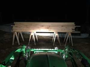 4 horses holding over 1850+lbs of green pine planking