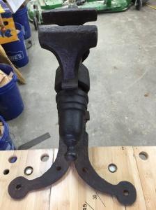 Top view of Blacksmith Leg Vise