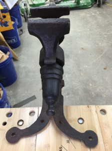 Top view of Blacksmith Leg Vise