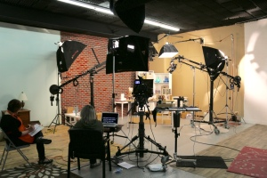 A live shoot & recording session in the studio