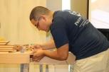 Freddy Roman demonstrating some fine detail work.