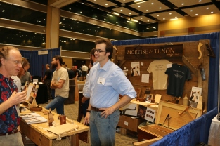 My friend Zach Dillinger at the Mortise and Tenon booth
