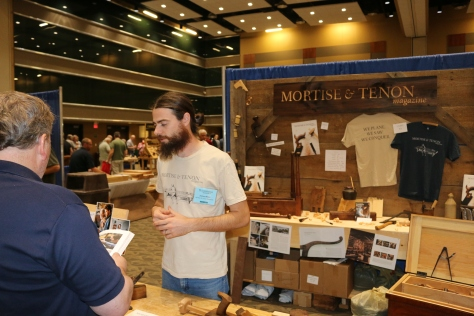 Joshua Klein and his most excellent Mortise and Tenon Magazine booth