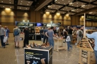 The large Lee Valley/Veritas booth. Always fun to try out their latest and greatest tools