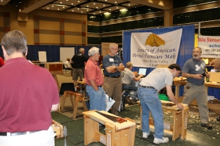 SAPFM booth with the hand tool olympics. I'm proud to say I did will with my cutting events.
