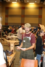 Jason Thigpen of Texas Heritage Woodworks making a great face.