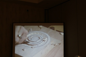 Carving a volute