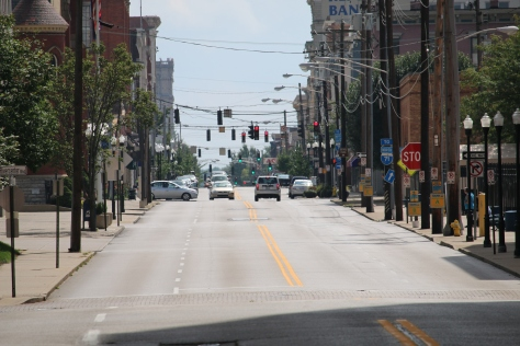 Street leading to the Northern Kentucky Convention Center, home to WIA 2016