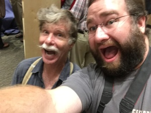 Quick selfie with my hero, Roy Underhill. It's always great to see him and he's very nice to all of us fans.