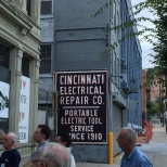 Great old sign dating back to the first days of electric in the city (At least according to our guide who was quite a character)