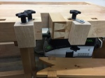 Side clamps with 5 star knobs (Alternate view)