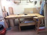 Left-handed Tage Frid workbench by Paul Van Pernis (Alternate view)