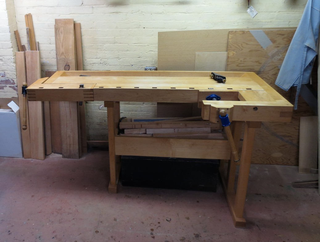 Left-handed Tage Frid workbench by Paul Van Pernis