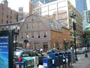 The Old Corner Bookstore in Boston 2010. Just after it closed after a LONG time as the oldest bookstore in America. We were there when it was recently vacated. I think its a Chipotle now.