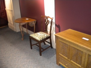 Tables, chairs and casework