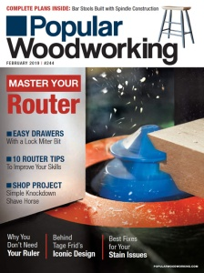 February 2019 Cover of Popular Woodworking Magazine Issue #244